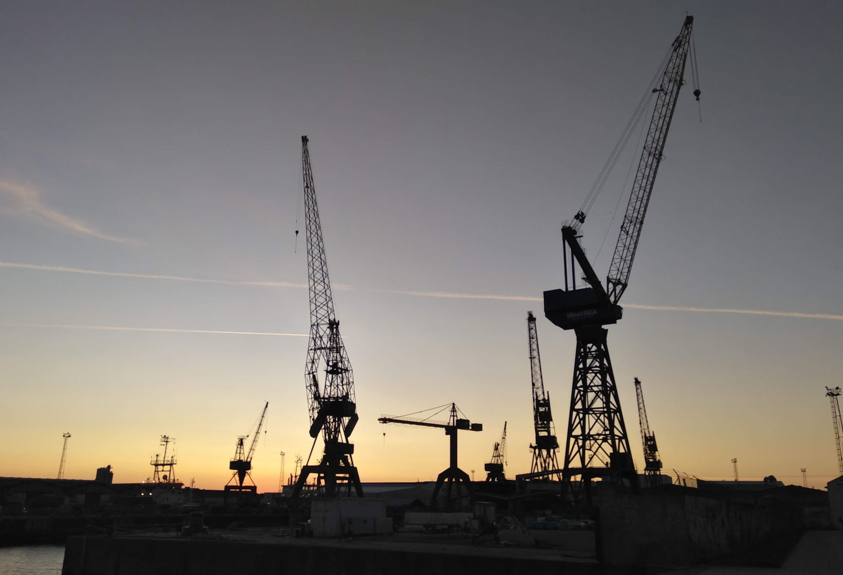 Some shore cranes used to represent our ocean freight online eLearning training