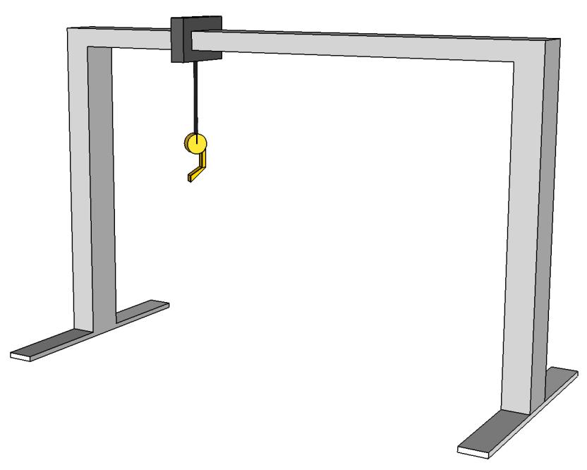 An ultra simplified diagram of a gantry crane