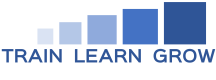 the logo of train learn grow - an eLearning and logistics training development company