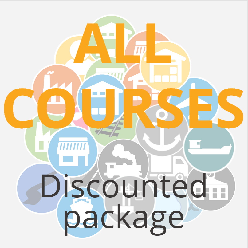 The icon for our page presenting our logistics courses and logistics training