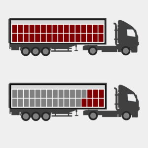 A picture to illustrate our article on LTL versus FTL, TL. The differences between Less-Than-Truckload and Full Truckload.