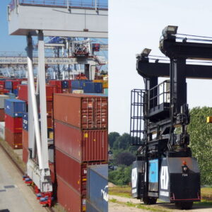 A picture of gantry cranes to illustrate our article