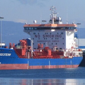 A picture of a tanker chemical vessel used to illustrate our article on tramper and liner