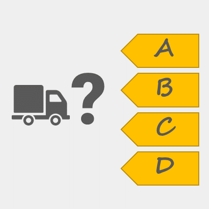 An icon for our page containing various logistics quiz